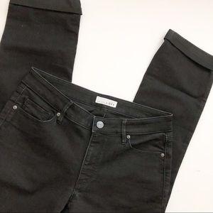 Loft Curvy and straight black jeans